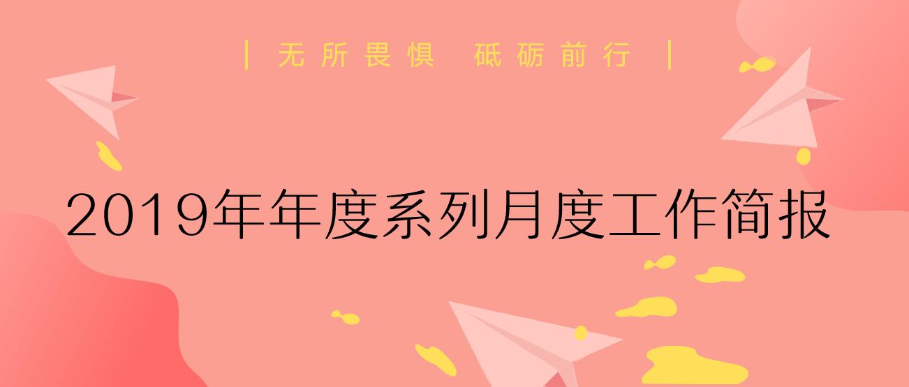 2019年度系列月度工作简报